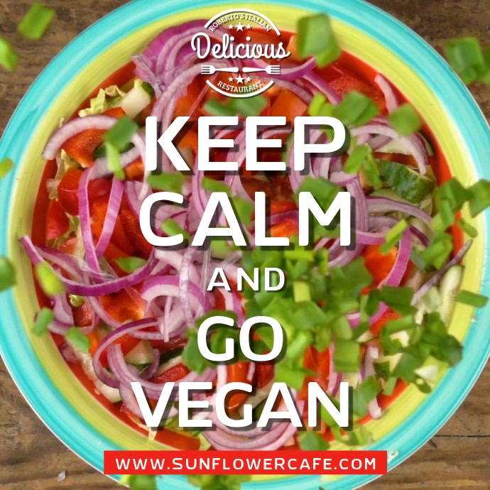 Keep Calm and Go Vegan Video Template