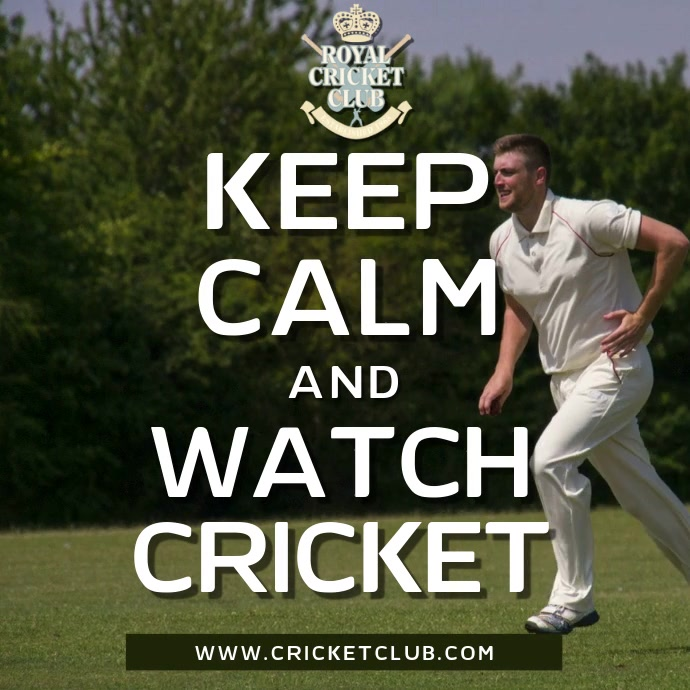 Keep Calm and Play Cricket Video Template