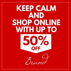 Keep Calm and Shop Online instagram ad post