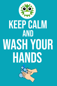 Keep calm and wash your hands Plakkaat template