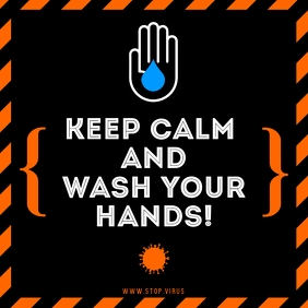 KEEP CALM AND WASH YOUR HANDS INSTAGRAM BANNE