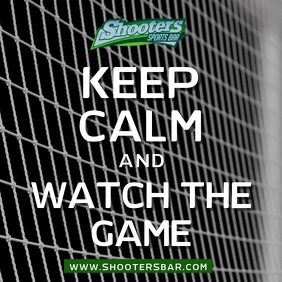 Keep Calm and Watch Football Video Ad Template