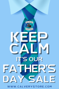 Keep Calm Father's Day Sale Poster Template