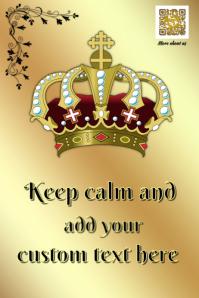 Keep Calm poster - Gold design