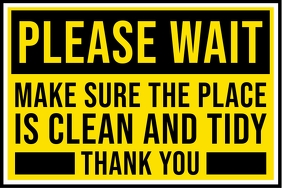 Keep Clean and Tidy Sign Template Spanduk 4' × 6'