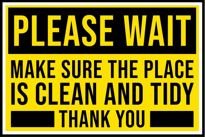 Keep Clean and Tidy Sign Template Banner 4' × 6'