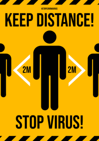 KEEP DISTANCE POSTER