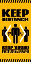 KEEP DISTANCE ROLL-UP BANNER ป้ายโรลอัป 3' × 6' template
