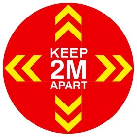 Keep Distance Sign Template Cuadrado (1:1)