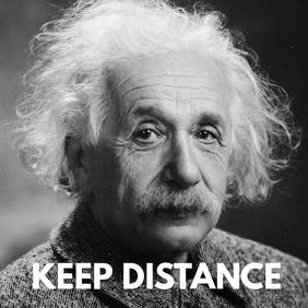 Keep Distance Social Media Prevention Advert