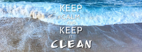 Keep it clean Twitter header Foto Sampul Facebook template