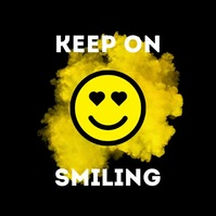 Keep on Smiling Smile HEarts Shine Smiley Instagram Post template