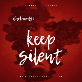 Keep Silent Red Mixtape Cover