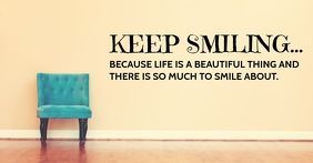 KEEP SMILING QUOTE TEMPLATE Facebook Ad