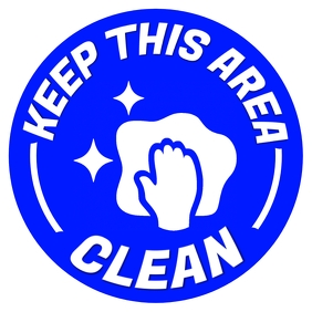 Keep This Area Clean Sign Template