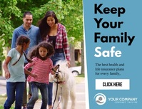Keep your family safe insurance ad template Ulotka (US Letter)