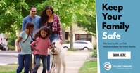 Keep your family safe insurance ad template Facebook Shared Image