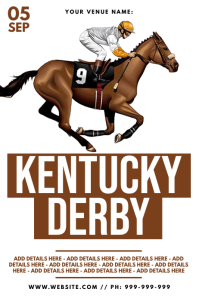 Kentucky Derby Poster template