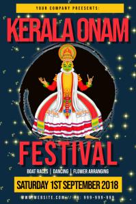 Kerala Onam Festival Poster