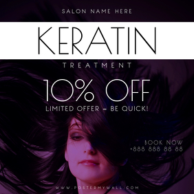 Keratin Treatment Hair Instagram Post Banner