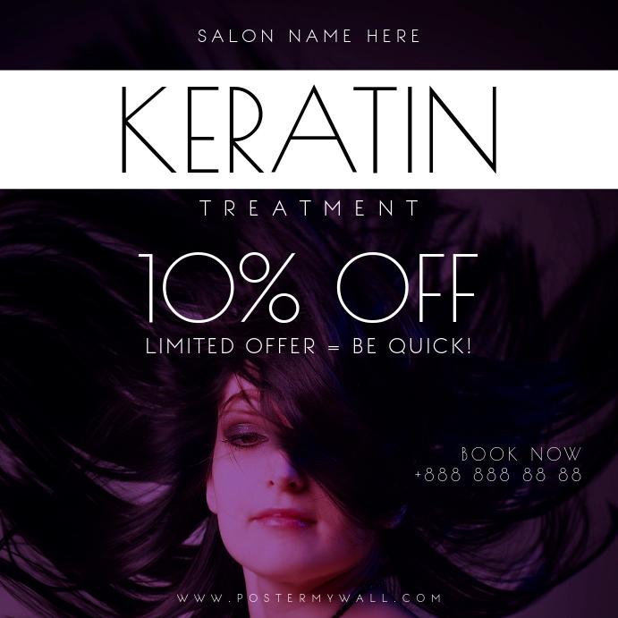 Keratin Treatment Hair Instagram Post Banner