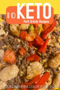 Keto Diet Recipe Ads ภาพกราฟิก Pinterest template