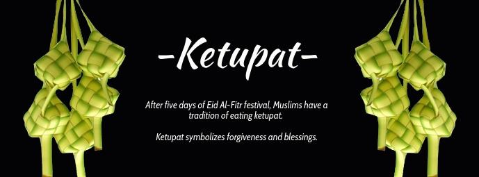 Ketupat Celebration Template Facebook Omslag Foto