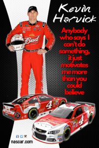 Customizable Design Templates for Nascar Driver Poster | PosterMyWall