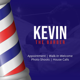 Kevin The Barber Instagram Post template