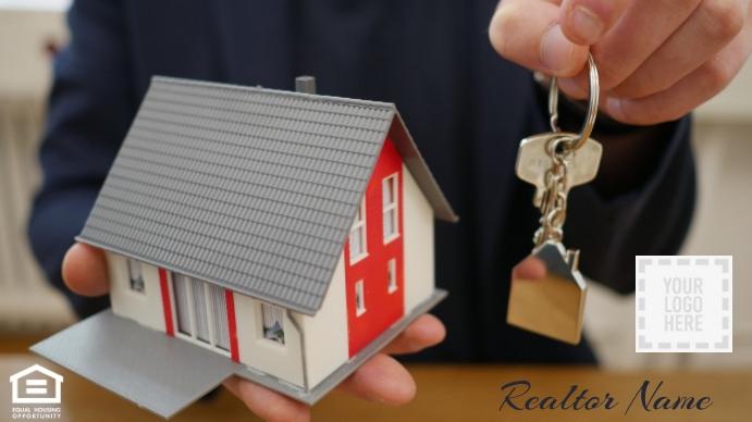 Keys in Reach Realtor Zoom Background Pagtatanghal (16:9) template