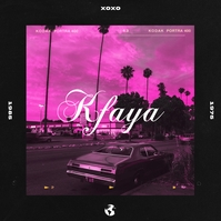 Kfaya Album Cover Artwork Design Template Pochette d'album