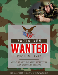 Khaaki Wanted Army Recruitment Flyer