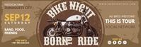 Khaki Bike Night Event 2'x6' Banner Template