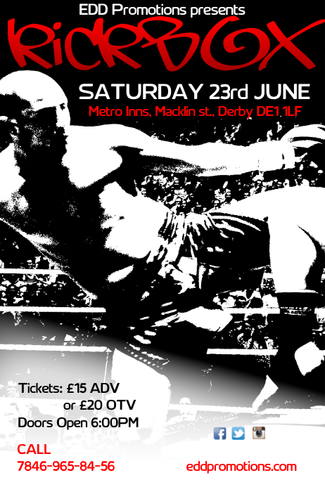 kick box event flyer