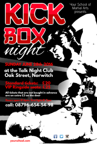 Kick Box Night Poster