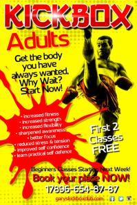 Kick Box School Flyer
