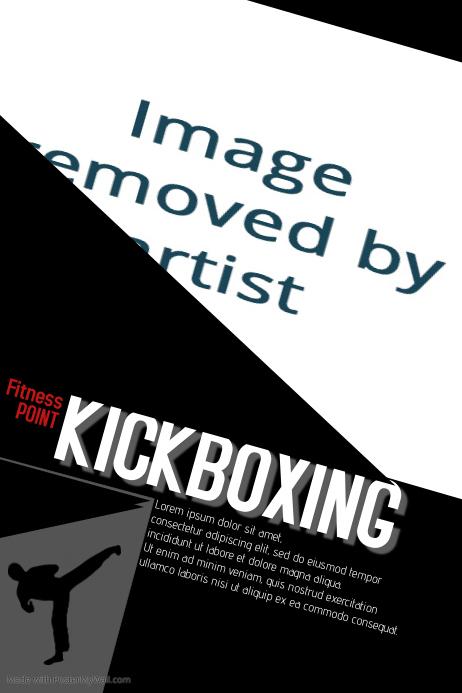 kick boxing template