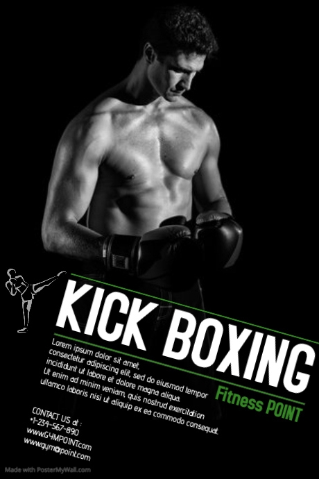 kick boxing template