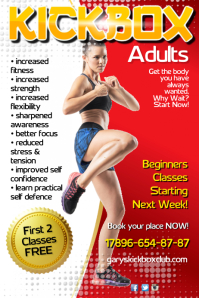 Kick boxing Scchool Poster