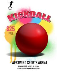 customizable design templates for kickball postermywall