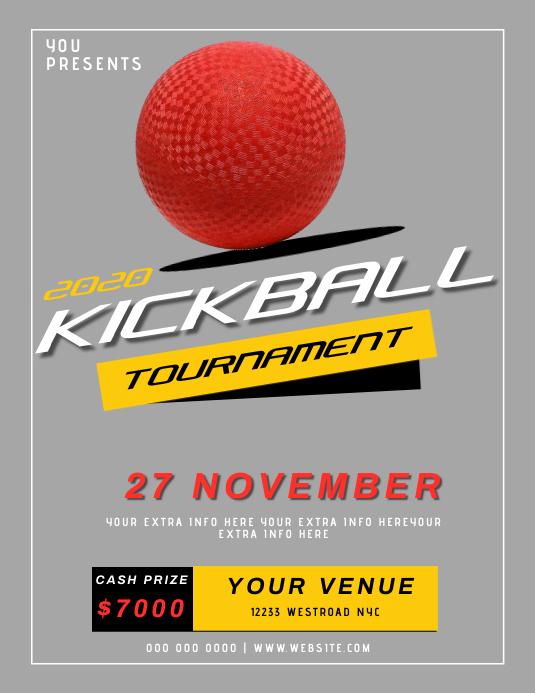 KICKBALL TOURNAMENT EVENT FLYER TEMPLATE