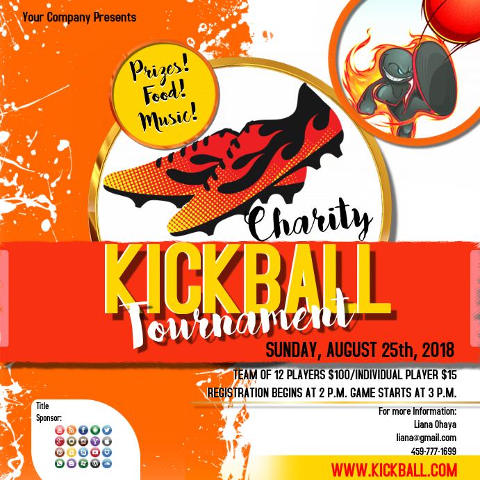 kickball2 template postermywall