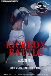 Kickbox battle event flyer template