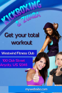Kickboxing and Zumba Flyer