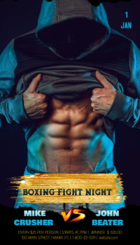 Boxing Fight Night Cartão de visita template