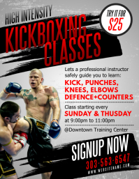 Kickboxing Classes Flyer Iflaya (Incwadi ye-US) template