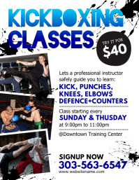 Kickboxing Classes Flyer template