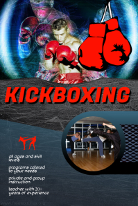 kickboxing classes flyer template Poster
