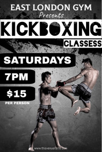 Kickboxing Classess Poster template