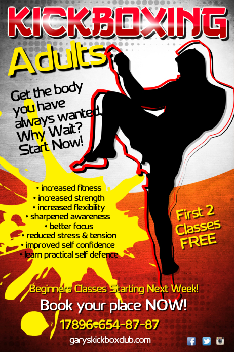 Kickboxing Club Poster